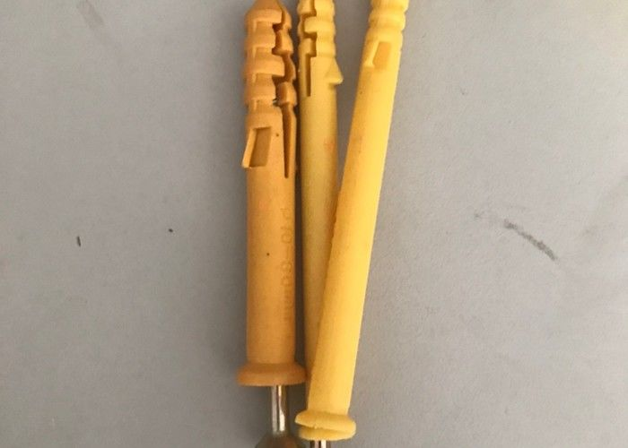 Yellow Expanion Nylon Nail In Anchor Concrete Anchors For Building Materials