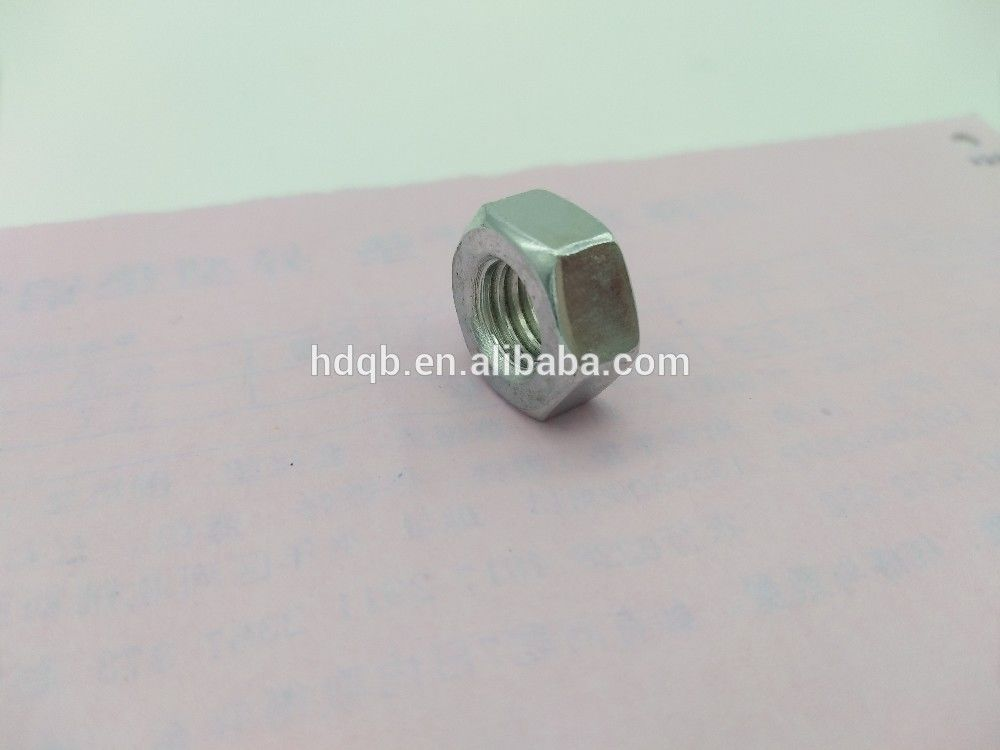 Iron Material Hex Head Insert Lock Nuts Metric Standard Nuts With Zinc Color