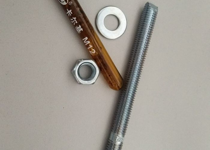 Carbon Steel Material Chemial Anchor Bolt With Blue&White Zinc Color Fasteners
