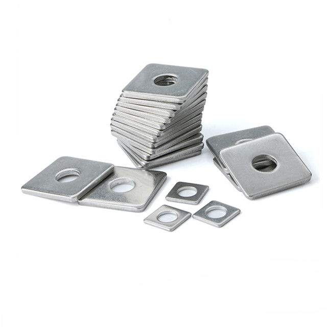 Square Leveling Carbon Steel Flat Washers With Round Square Hole