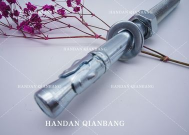 China Custom M6-M24 Wedge Metal Anchor Bolts , Steel Zinc Plated Wall Anchor Bolts distributor