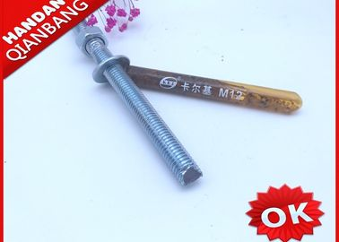 China High Performance Chemical Anchor Bolt  M12*100 , Chemical Anchor Fasteners Standard distributor