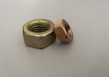 China Iron Material Hex Head Nuts Of 4.8/6.8/8.8  Grade With Yellow Color Used Fasteners distributor