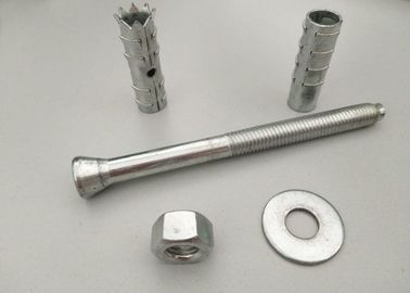 China Mechanical Chemical Anchor Fixings , Wall Anchor Bolts White Zinc Color distributor