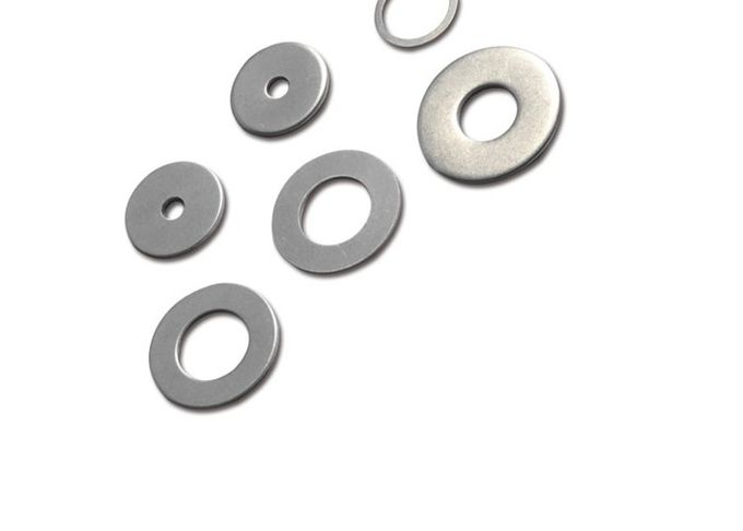 Yellow Color Steel Custom Flat Washers With M3 - M52 Size High Strength