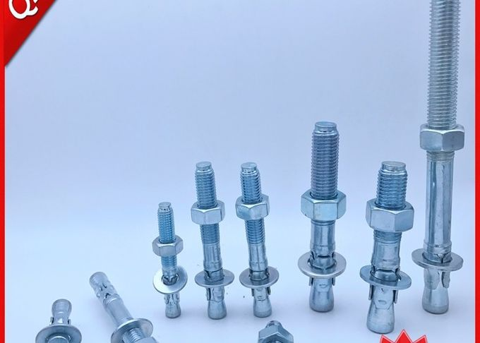 M6-M24 Expansion Anchor Bolt / Anchor Wedge Bolts With Blue & White Zinc Plated