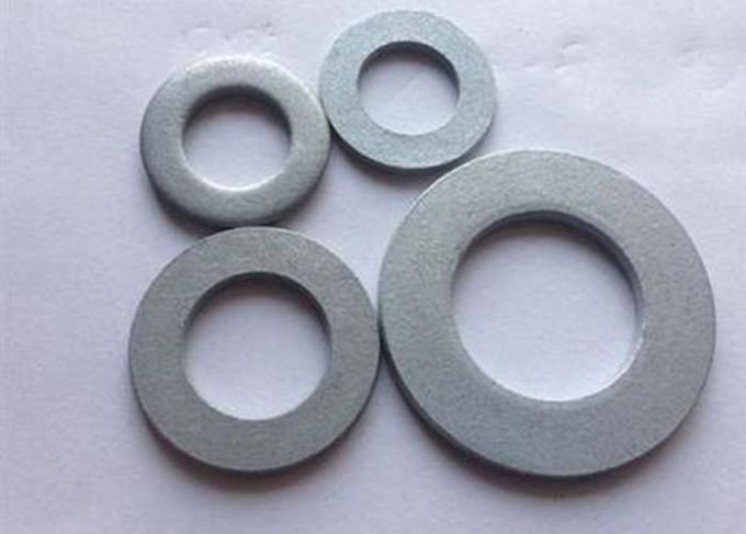 M8 M10 Metal Flat Washers / Steel Plate Washers With Zinc Plated Finish