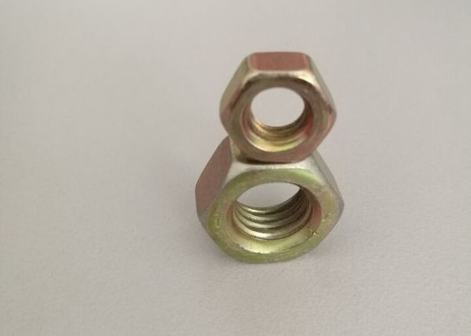 Iron Material Hex Head Nuts Of 4.8/6.8/8.8  Grade With Yellow Color Used Fasteners